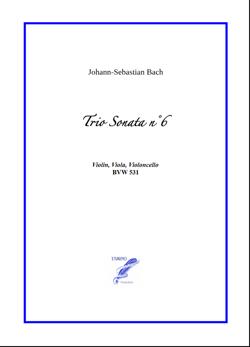 Sonata n°6 BWV 531 for String Trio (Bach)