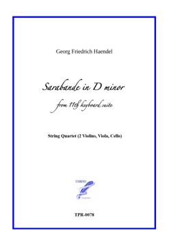 Sarabande in D minor for String Quartet (Haendel)