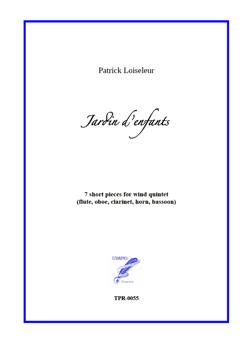 Jardin d'enfants for Wind Quintet (Loiseleur)
